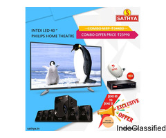 "Combo Offer - Intex LED TV 40 "" And Philips Home Theatre Just In RS.23990 -  Sathya"