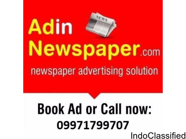 The Times of India Newspaper Ad Booking Online