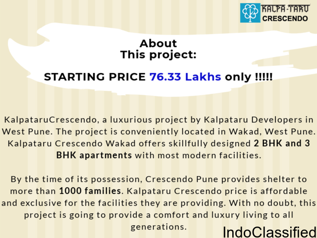 Luxurious Project in pune at Kalpataru crescendo wakad