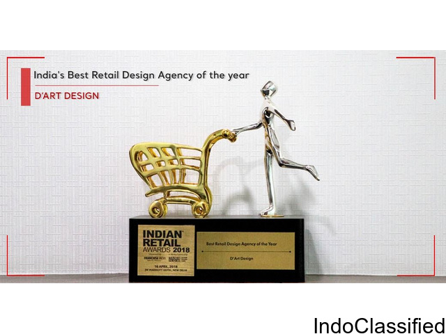 D'ART awarded as India' Best Retail Design Agency