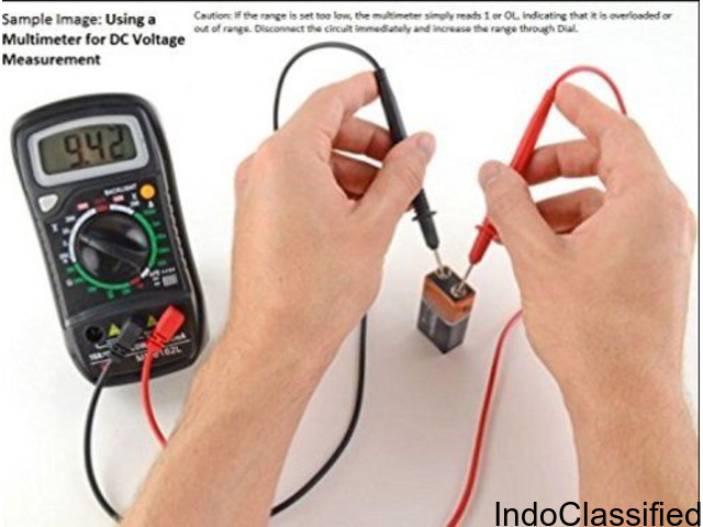 Digital Pocket Multimeter, Colour May Vary (Yellow or Green)