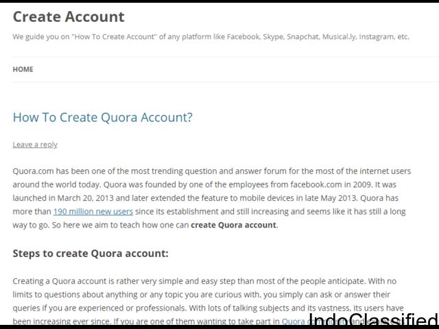 Create Social Media Account