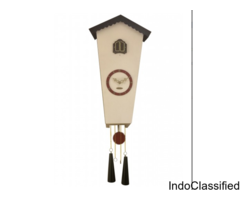 Cuckoo Wall Clock With Bird Music Sound, Hanging Rings and Decor