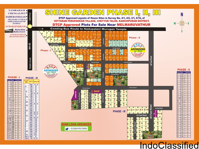 Dtcp Approved plots in Melmaruvathur