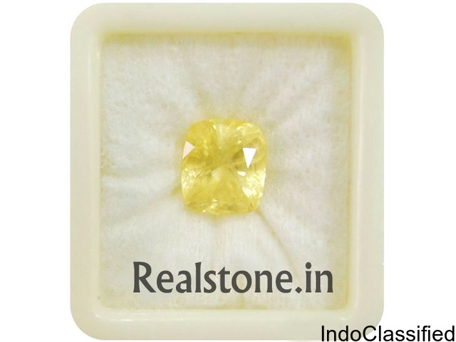 Yellow sapphire / Pukhraj Certified Gemstones at Realstone.in