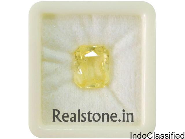 Yellow sapphire / Pukhraj Certified Gemstones at Realstone.in