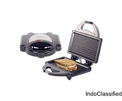 Lifelong 750-Watt 4-Slice, Non Stick Grill Sandwich Maker (Black)