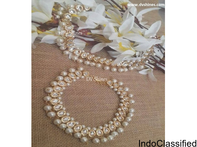 Shop online Kundan Payals at DVShines