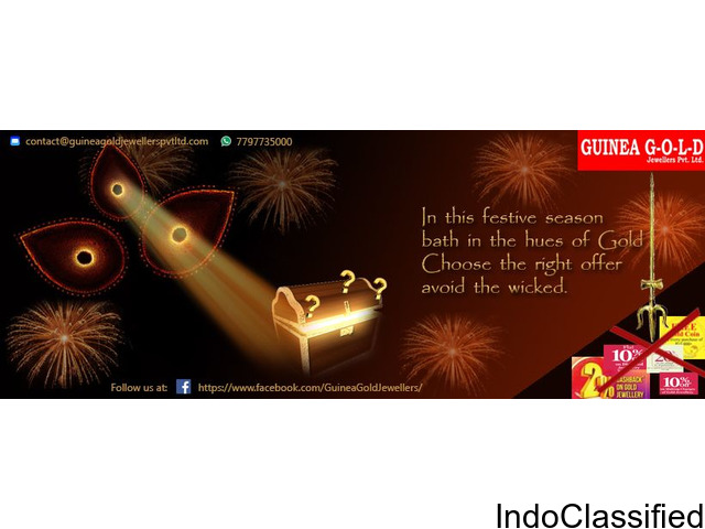 Guinea Gold Jewellers  announces special  Diwali Offer  on purchasing jewellery items