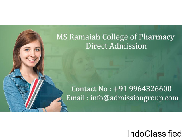 How to get admission in 9964480444/9844097630-MS Ramaiah College of Pharmacy management quota?