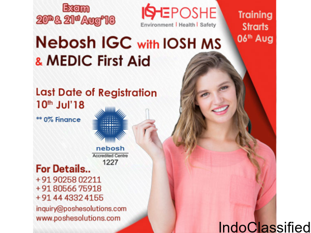 NEBOSH IGC course with Iosh ms & medic first aid