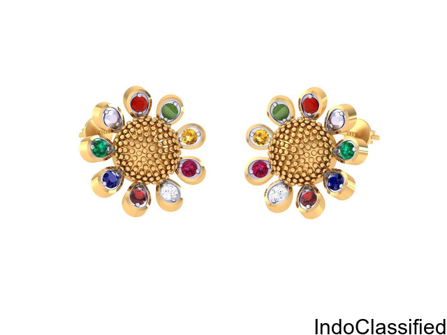 Navratna Earrings For Womens