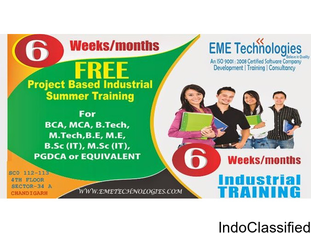 """6 months/6 Weeks """"FREE OF COST / STIPEND BASED"""" Project Based Training"""