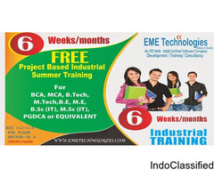 "6 months/6 Weeks ""FREE OF COST / STIPEND BASED"" Project Based Training"