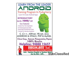 Android App Development in a best institute at Pondicherry