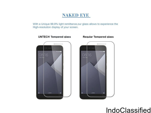 Un-Tech Tempered Glass  Screen Protector For Mi 5A, Xiaomi Redmi 5A