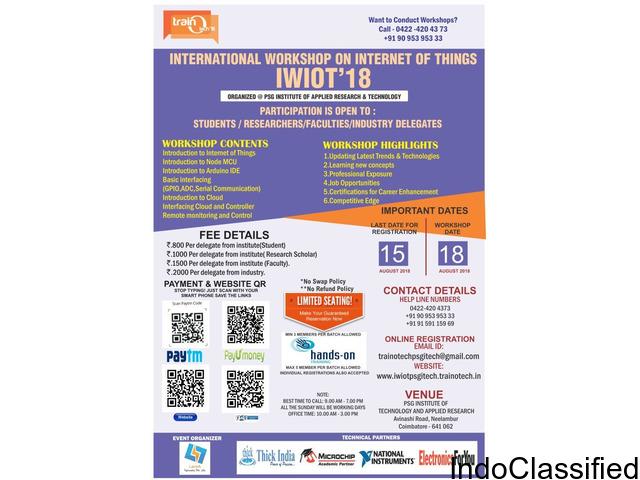 International Workshop on Internet of Things