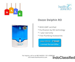 15% OFF on New Oozze Dolphin RO Water Purifier