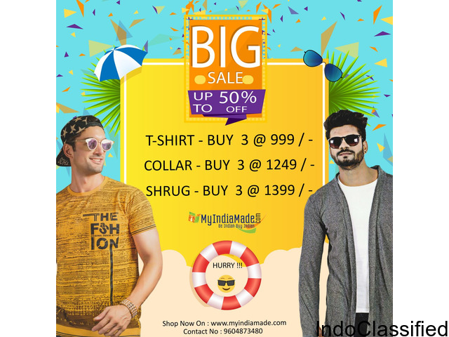 BUY T-shirts @ 499/- FREE delivery within 12hr COD, SHOP - myindiamade.com / 7040679800
