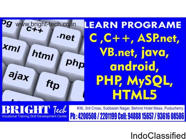 Web Programming training at puducherry