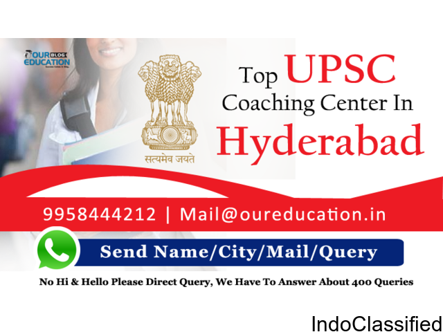 Best UPSC Coaching in Hyderabad with Well Defined Infrastructure and Experienced Faculty Members