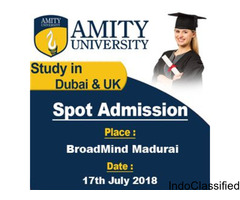 Amity University Dubai On-spot Admission in Madurai