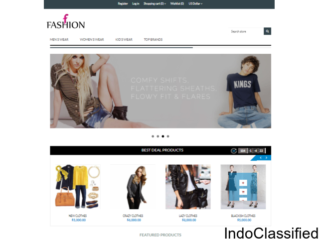 Ready Made ecommerce Website Templates