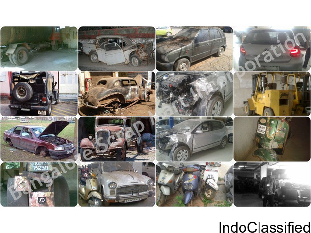 Scrap Dealer We Buy Used and Junk Cars in Bangalore