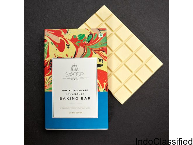 Buy White Chocolate Couverture Baking Bar Online in Bangalore – Smoor Chocolates
