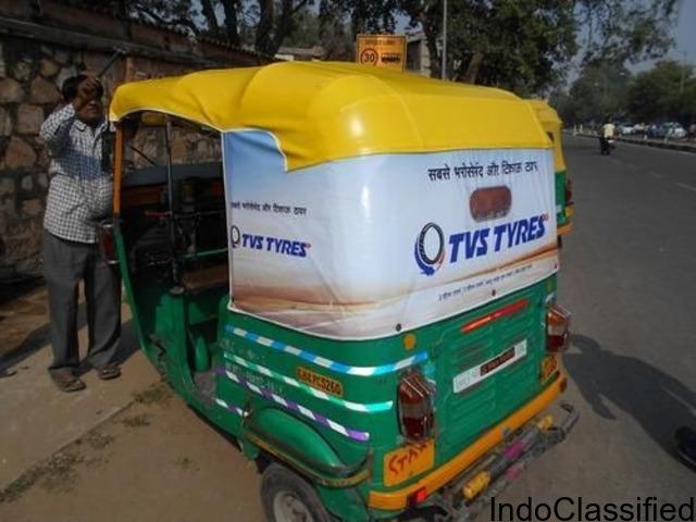 Flex Stitching Auto Rickshaw Advertising Banner Size