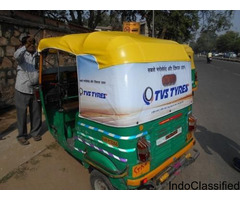 Flex Stitching Auto Rickshaw Advertising Banner Size