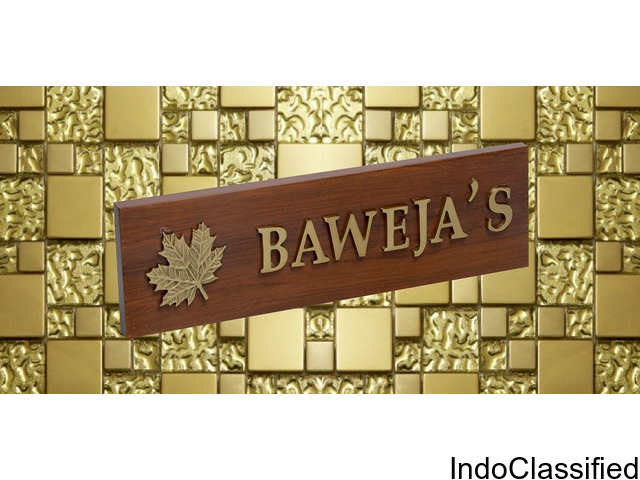 Buy Online Nameplate for House
