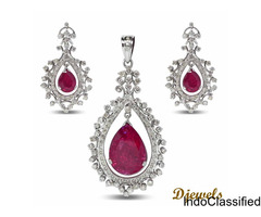 Diamond Pendant Set for Ladies By Djewels