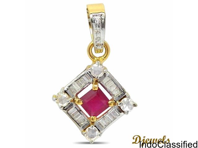 Diamond Pendant Set By Djewels.org