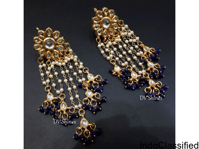 Online Kundan Earrings