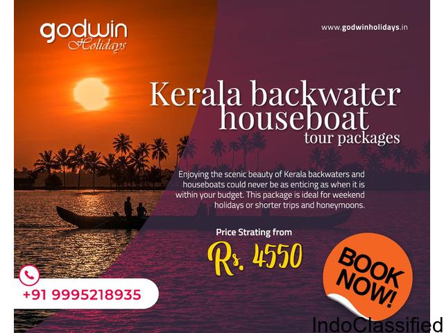 Kerala Backwater tour packages at affordable rates-Godwin Holidays