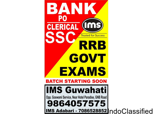 IMS Guwahati is the best MBA, Bank PO, SSC Exams institute /coaching centre
