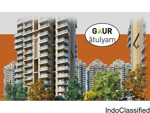 Book Stunning 2 BHK Flat (1040 sq.ft) with Gaur Atulyam : 9250-377-000