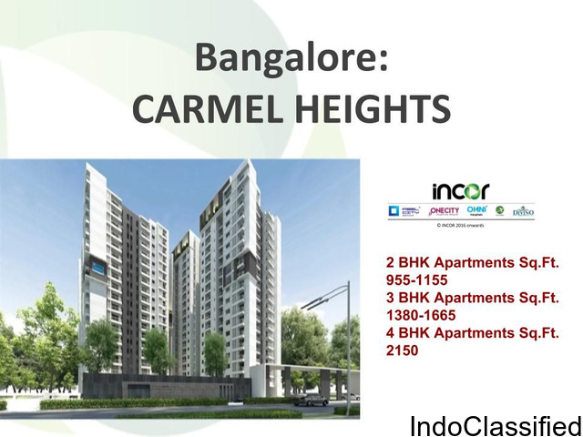 Incor Carmel Heights 2/3/4 BHK Homes in Bangalore