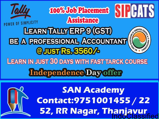 Tally Course in Thanjavur Independence day Offer