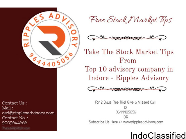 Take The Stock Market Tips From Top 10 advisory company in indore - Ripples Advisory
