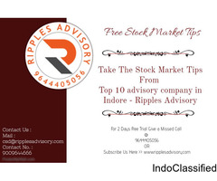 Take The Stock Market Tips From Top 10 advisory company in indore - Ripples Advisory