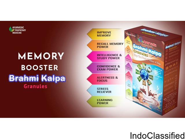 Memory Booster Ayurvedic Medicine With Power Of Brahmi And   Shankapushpi