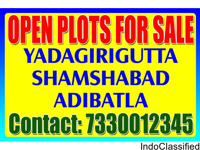 East / Corner Facing Plots For Sale In Shamshabad | Open Plots For Sale In Yadagirigutta