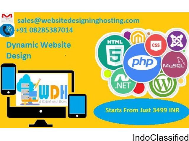 Dynamic Website Design at affordable price in Delhi