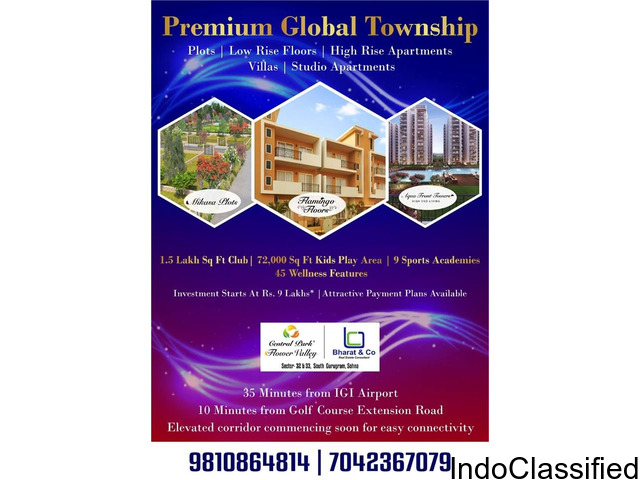 Central Park Property in Gurgaon / Central Park Resorts in Apartment