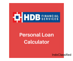 Personal Loan Calculator - HDB Financial Services LTD