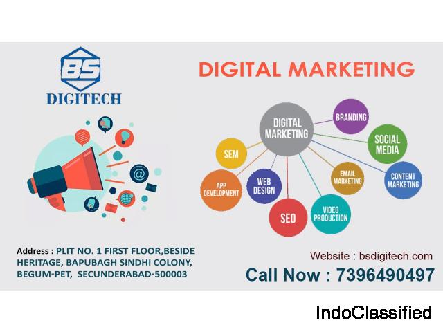 Website Design, Development, and Digital Marketing Company in Hyderabad | BS Digitech