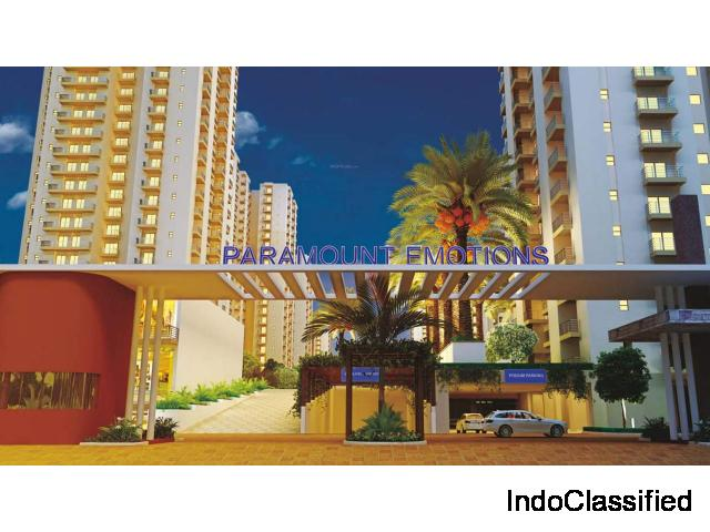 Call Now for Booking 3 BHK Flat at Paramount Emotions @ Rs. 2999/sq.ft: 8750-988-788
