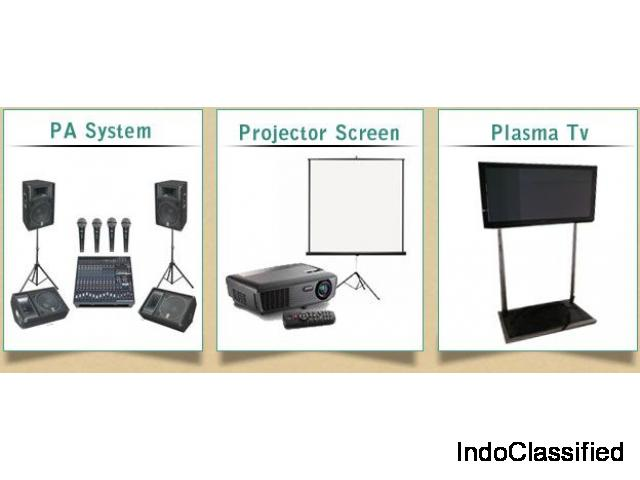 Event Equipment Rental Services, LedTV, Sound System, Projector, DJ System@very attractive price